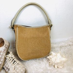 ➖J. Crew➖ straw and leather bag